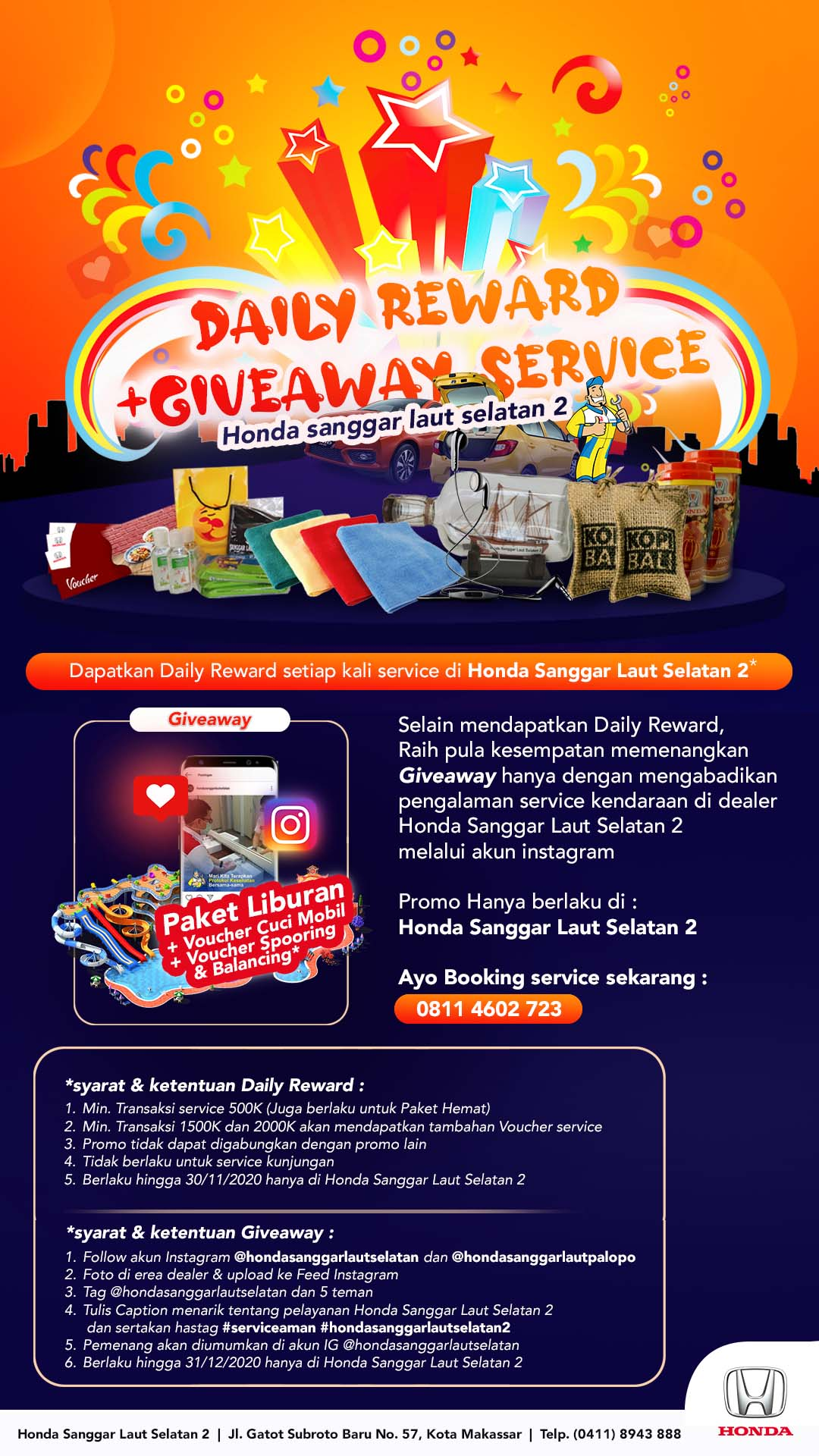 Promo Daily Reward dan Giveaway Service